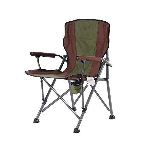 LDM Silla de camping apoyabrazos plegable silla de pesca portavasos transporte de pesca Picnic Barbacoa (color: T1), T1.