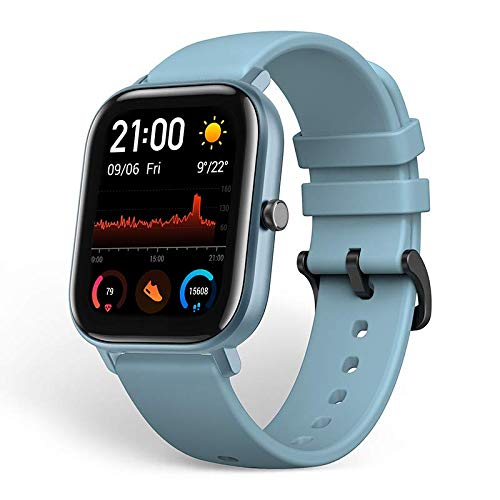 Amazfit GTS Smartwatch Fitness Tracker with Built-in GPS,5ATM Waterproof,Heart Rate, Music, Smart Notificatons (Blue)