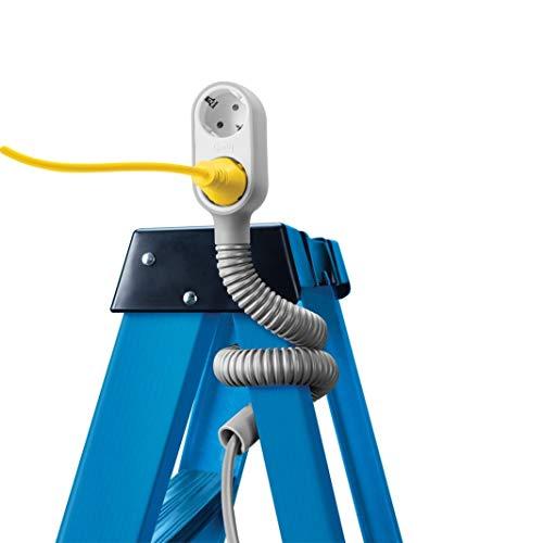Quirky Prop Power Indoor 3 uitgangen, AC 1,82 m, wit – stekkerdoos (binnen, 1,82 m, 3 uitgangen) AC, type C (stekker), type C, type E (FR), type F, wit)