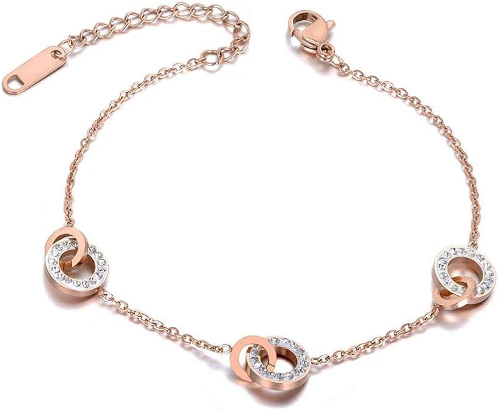 Chain Link Bracelet for Women Max 84% OFF Bracele White Charm Clay Circle Philadelphia Mall