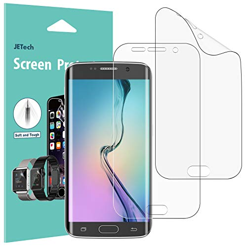 JETech Screen Protector for Galaxy S6 Edge, TPE Ultra HD Film, Full Screen Coverage, 2-Pack