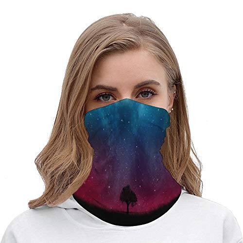 YYone Seamless Face Mask Pretty Galaxy Nebula Face Scarf Bandanas Mask Fashion Headwear For Men and Women,Multi Function Head Scarf For Outdoors, Festivals, Sports