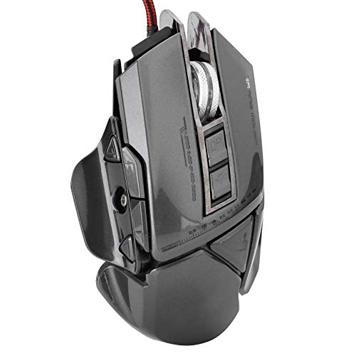 753 Wired Gaming Mouse, Optical Mechanical 7D Programmable Ergonomic RGB Backlit Game USB Computer Mice RGB Gamer Desktop Laptop PC Gaming Mouse(Grey)