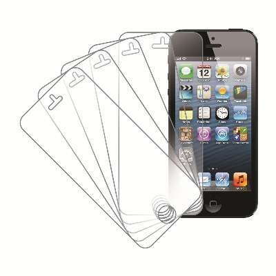 eTECH Collection 5 Pack of Crystal Clear Screen Protectors for Apple iPhone 5/5S/5C AT&T/T-Mobile, Sprint, Verizon