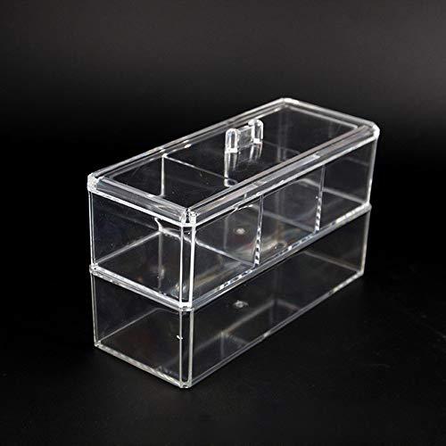 QCCOKNN Caja de almacenamiento de rejilla de plástico para organizar el cuarto de baño o el escritorio, para guardar cosméticos