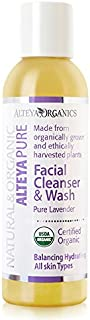 Alteya Organic Facial Cleanser & Wash 150ml - Pure Lavender - USDA Certified Organic 100% Biodegradable Soap - Balancing and Hydrating for All Skin Types