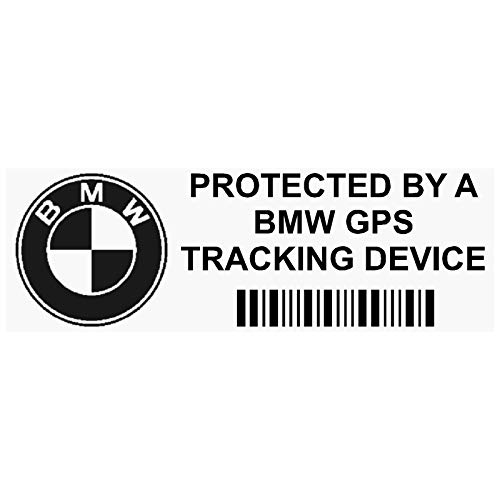5 x Platinum Place ppbmwgps 87x30mm Adhesivos de seguridad para ventanillas de autom & oacute vil,advertencia de sistema de rastreo,para Serie 3,4,5,6,7,E,M,F,G,5 unidades