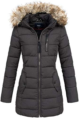 Only Onlnorth Nylon Coat CC Otw Abrigo, Negro (Black Black), 38 (Talla del fabricante: Small) para Mujer