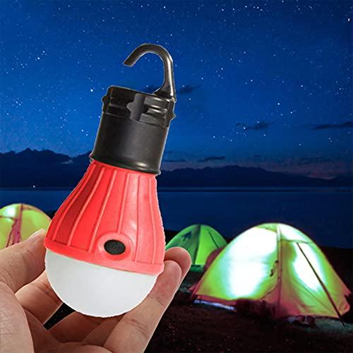 Luces de tienda, linterna de camping, luz de camping a batería, bombilla LED portátil, 3 modos de iluminación, para senderismo, pesca, acampada, hogar al aire libre
