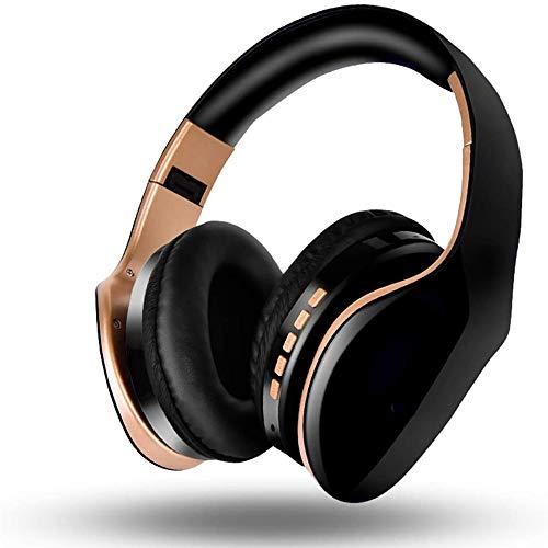 NBCDY Drahtlose Bluetooth-Kopfhörer, Head-Mounted-Gaming-Headset mit Rauschunterdrückung, faltbares Headset für Mobiltelefone PC Tablet Home Office