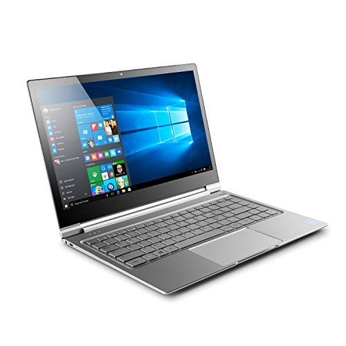 "CSL R\'Evolve T14 inkl. Win10 Home - Lautloses UltraSlim-Notebook in edlem Metallgehäuse mit 14,1"" IPS-Touchscreen, Intel Celeron N3450 4X 2200 MHz, 240GB M.2 SSD, 4GB RAM, AC WLAN, USB 3.1, Bluetooth"