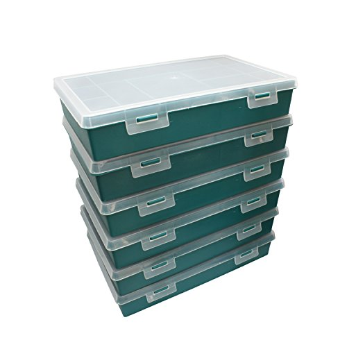 Sortimentskasten mit 21 Fächer für Schrauben und/oder Kleinteile aller aller Art, zb. Muttern, Scheiben oder Anglerzubehör im 6er Pack