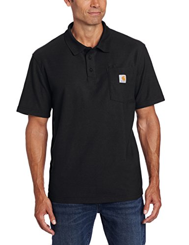 Carhartt Men's Contractors Work Pocket Polo,Black,X-Large