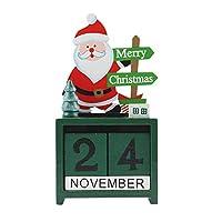 クリスマスの飾り ペンダントドロップOrnametnsサンタクロースムース木製のカレンダーボックスクリスマスクリエイティブオフィス装飾飾り、ランダム形式の配送