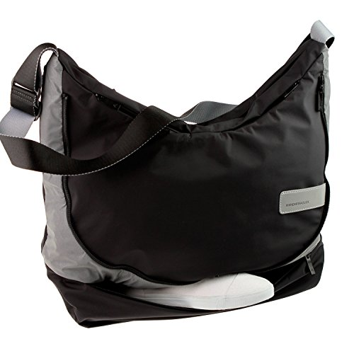 Mandarina Duck Switch On XL Funktion Schultertasche Tasche Bag Black-Grau 7QT05