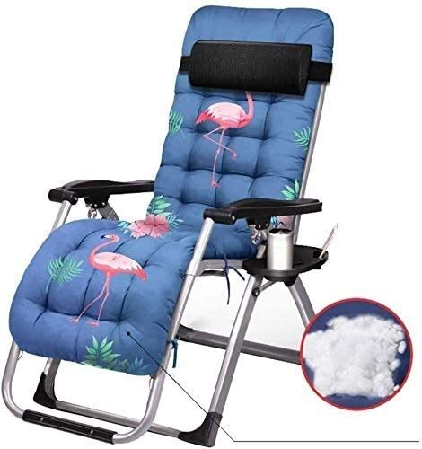 Suge Zero Gravity Chaise Lounges Patio Lounger Chair Sun Lounger Garden Chairs Recliner Lounger Chair Lunch Break Chair Home Folding Chair Adjustable Multifunction with Cup Holder and Mattress Widened