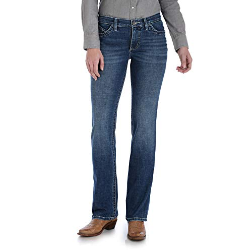 Wrangler Women's Willow Mid Rise Boot Cut Ultimate Riding Jean, Davis, 9W x 32L