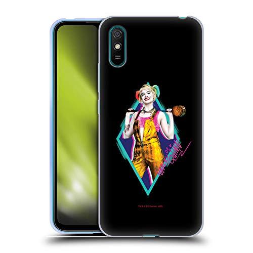 Head Case Designs Oficial Birds of Prey DC Comics Happy Loco Martillo Harley Quinn Carcasa de Gel de Silicona Compatible con Xiaomi Redmi 9A
