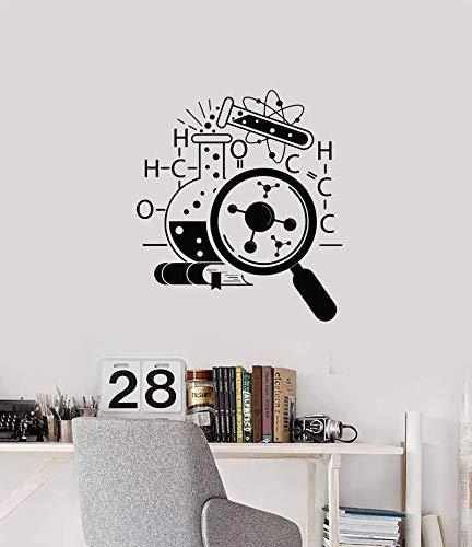 Pegatina de vinilo para pared experimento de ciencia calcomanía de pared inspiradora pegatina de frase motivacional pegatina de pared