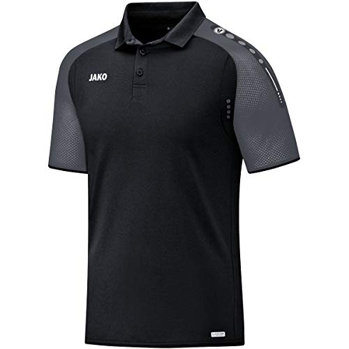 JAKO Herren Champ Polo T-Shirt, schwarz/anthrazit, XL, 6317