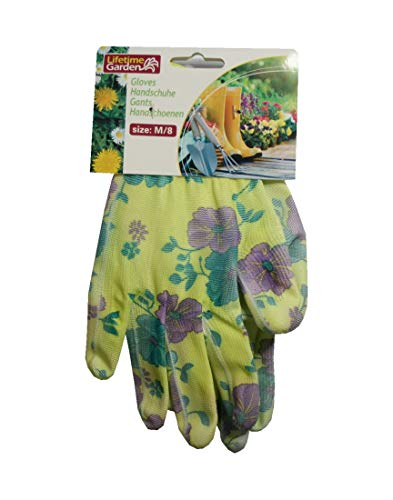 Gartenhandschuhe Damen Gr.8 Handschuhe Blumen Nr.2 (0279)