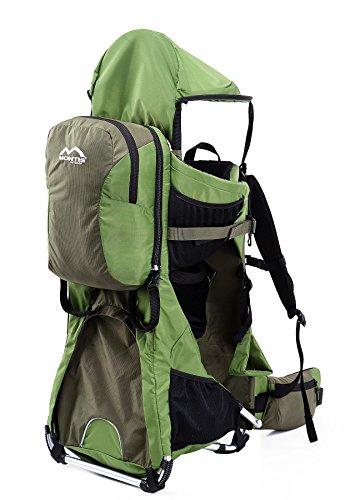MONTIS Ranger Pro - Mochila portabebés - hasta 25 kg (Verde)