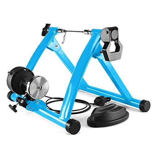 ZZYG Home Trainer Velo Elite,Entraineur Vélo Home avec Système De Sécurité à Double Verrouillage Et Cadre en Acier Ultra Résistant,Faible Bruit,Blue