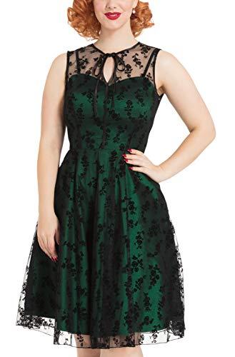 Voodoo Vixen Emerald Frauen Mittellanges Kleid grün XXL