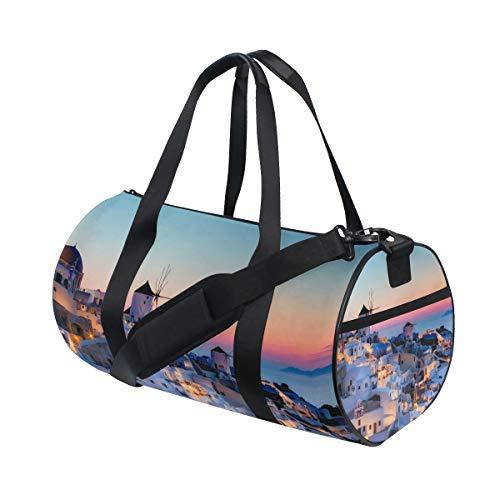 Eslifey Grecia Santorini Caldera Sunset Landscape Fitness Sports - Bolsa de viaje para hombre y mujer