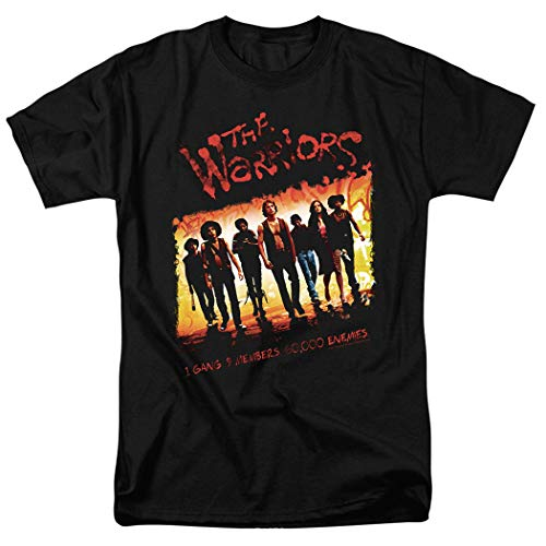 The Warriors Come Out to Play Gang Movie T Shirt & Stickers (Large) Black