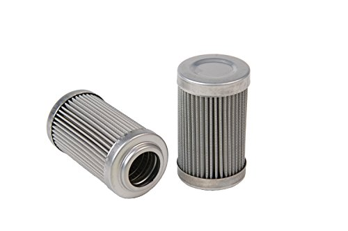 "Aeromotive 12604 Replacement Filter Element, 100-Micron Stainless Mesh, Fits All 2"" OD Filter Housings"