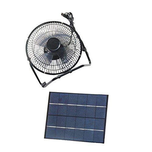 Vorcool - Ventilateur USB à énergie solaire, 5,2 W