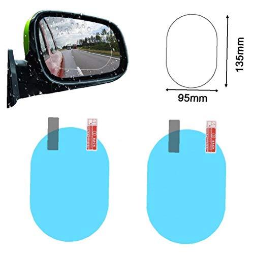 Bongles 2st Auto Rückspiegel Wasserdicht Aufkleber Fenster Transparent Film Anti Fog Anti-fensterfolie Auto Schutz Aufkleber