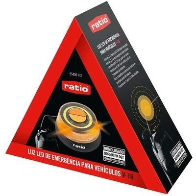 Luz V16 Baliza led de Emergencia 3 Pilas AAA Incluidas 55400H2