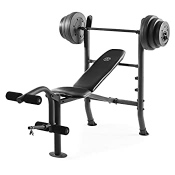Golds Gym XR 8.1 Combo GGBE99517 Weight Bench with 100 Lb Vinyl Weight Set