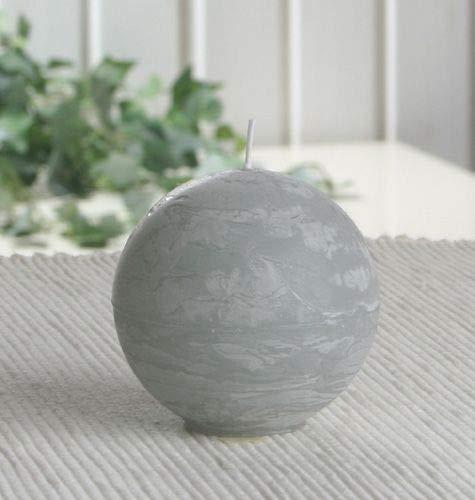 Rustik-Kugelkerze, 6 cm Ø, grau