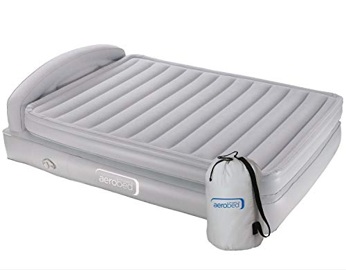 Aerobed Airbed Comfort Classic Raised King, Indoor Air Bed with Screw-On Electric Pump, Blow Up Guest Bed, Flocked Inflatable Mattress, 198 x 152 x 46 cm