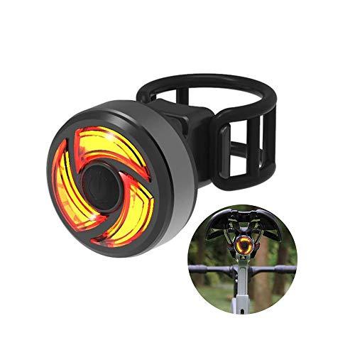 ZBQLKM Cola luz de la bici, USB ultra brillante recargables Luces traseras de bicicletas, se adapta rojo LED de alta intensidad accesorios en cualquier bicicleta o casco, fácil de instalar, 3 modos de