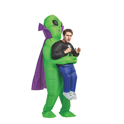 GOOSH 63 INCH Inflatable Costume for Adults, Halloween Costumes Men Women Alien Holding a Human,...