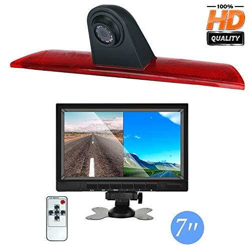 HD 720p Rückfahrkamera für Ford Transit Jumbo F150/F250/F350 Transit MK 8 2014–2019, 3. Bremslicht Rückfahrkamera Kit, mit 17,8 cm (7 Zoll) LCD-Monitor, wasserdichte Nachtsicht