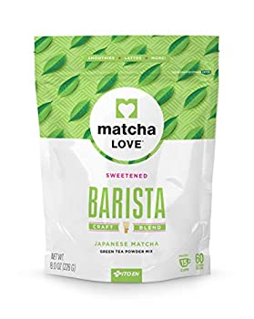 Matcha Love Green Tea Powder Packet Sweetened 8 Ounce