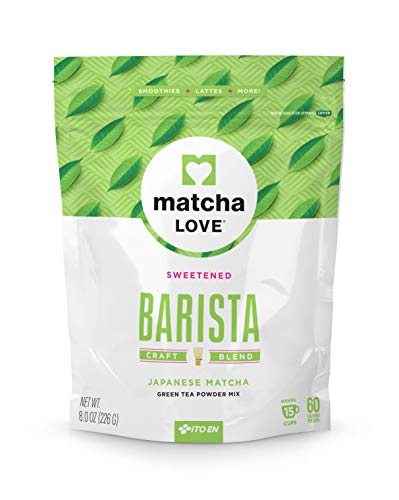 Matcha Love Green Tea Powder, Sweetened, 8 Ounce Packet