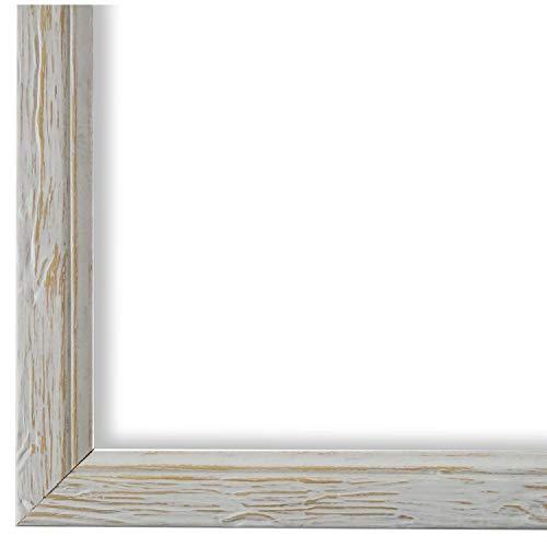 Online Galerie Bingold Bilderrahmen Beige Weiß DIN A3 (29,7 x 42,0 cm) cm DINA3(29,7x42,0cm) - Shabby, Vintage, Rustikal, Landhaus - Alle Größen - handgefertigt - WRF - Vasto 1,8