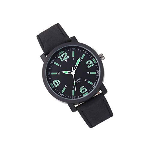 ibasenice Hombres Relojes Deporte Reloj de Cuarzo Reloj de Pulsera de Negocios Correa Ajustable Cinturón de Cuero Duradero Diseño Ligero Y Simple para Hombres Niños Caballeros Mujeres-
