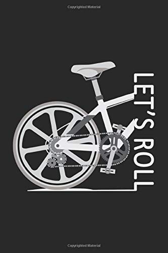 LET´S ROLL: Notebook I Journal I Planner I 6 x 9 with 120 Pages, Blank Frame Design I Glossy Cover I Mountain Bike, Mountainbike