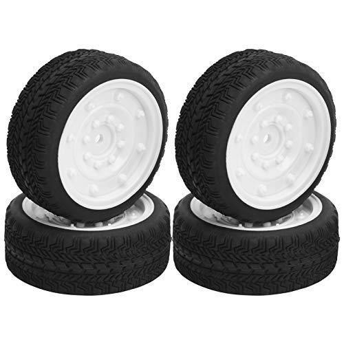 Drfeify Neumáticos de Goma para Coche RC de 4 Piezas, neumáticos de Coche de Control Remoto de 65 mm para la Parte de modificación de actualización WPL D12 1/10