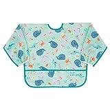 Bumkins Babero con manga, babero para bebé, impermeable, lavable, resistente a las manchas y los olores, 6 – 24 meses – Ocean Life