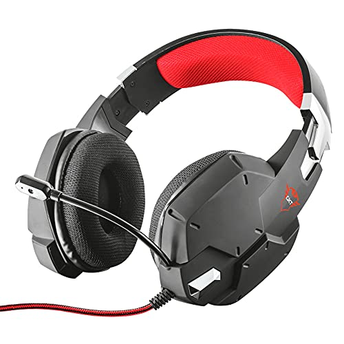 Trust Gaming Headset GXT 322 mit Mikrofon für PS4, PS5, PC, Nintendo Switch, Xbox Series X, Xbox One - Carus Kabelgebundene Gaming-Kopfhörer mit Flexiblem Mikrofon - Schwarz