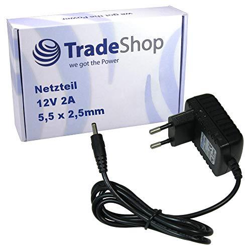 Trade-Shop 12V 2A 5,5x2,5mm Universal Netzteil Stromadapter 1,2m für T-Com Speedport W501 W501V Eumex 300 IP 300IP Speedport Bridge W100 W101 T-Sinus 154 1045