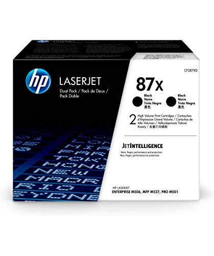 HP 87X Black CF287XD Pack 2